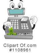 Royalty-Free (RF) Cash Register Clipart Illustration #1108961