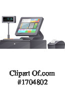 Cash Register Clipart #1704802 by Vector Tradition SM