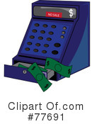 Royalty-Free (RF) cash register Clipart Illustration #77691