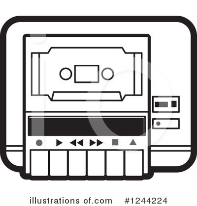 Cassette Tape Clipart #1244224 by Lal Perera