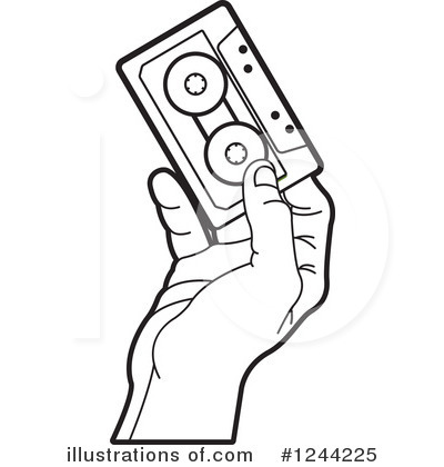 Cassette Tape Clipart #1244225 by Lal Perera