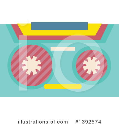 Cassette Tape Clipart #1392574 by BNP Design Studio