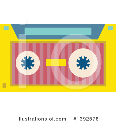 Cassette Tape Clipart #1392578 by BNP Design Studio