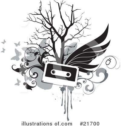 Royalty-Free (RF) Cassette Tape Clipart Illustration by OnFocusMedia - Stock Sample #21700