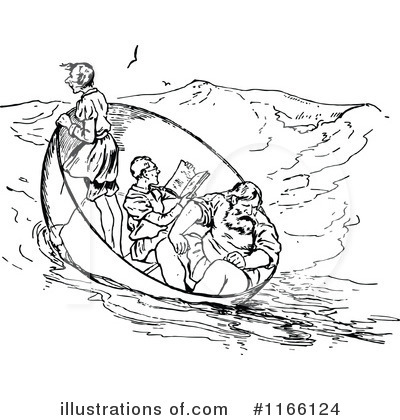 Royalty-Free (RF) Castaways Clipart Illustration by Prawny Vintage - Stock Sample #1166124