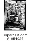 Royalty-Free (RF) castle Clipart Illustration #1054026