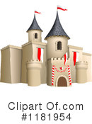 Royalty-Free (RF) castle Clipart Illustration #1181954