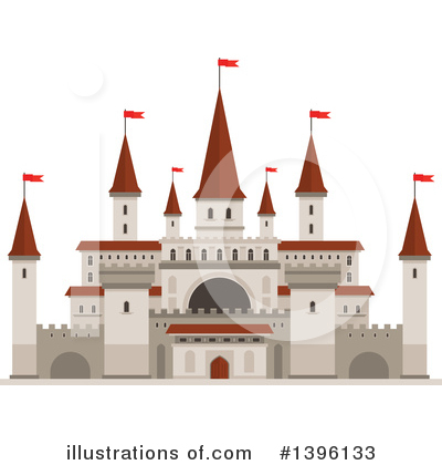 Fortress Clipart #1396133 by Vector Tradition SM