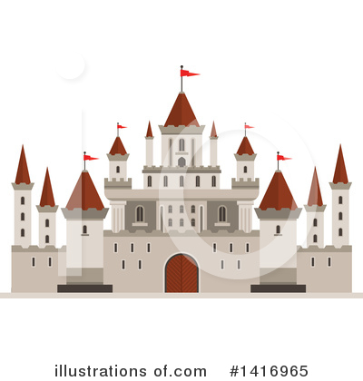 Fortress Clipart #1416965 by Vector Tradition SM