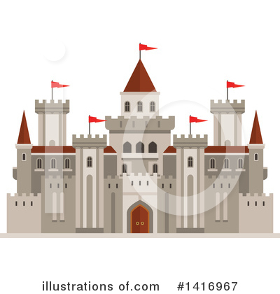 Fortress Clipart #1416967 by Vector Tradition SM
