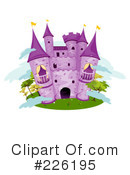 Royalty-Free (RF) castle Clipart Illustration #226195