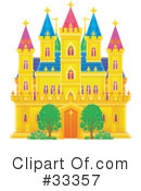 Royalty-Free (RF) castle Clipart Illustration #33357