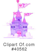 Royalty-Free (RF) castle Clipart Illustration #40562