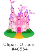 Royalty-Free (RF) castle Clipart Illustration #40564