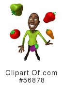Casual Black Man Character Clipart #56878 by Julos