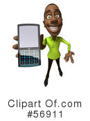 Casual Black Man Character Clipart #56911 by Julos