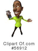 Casual Black Man Character Clipart #56912 by Julos