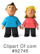 Royalty-Free (RF) Casual Couple Clipart Illustration #92745