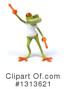 Casual Green Frog Clipart #1313621 by Julos