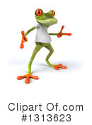 Casual Green Frog Clipart #1313623 by Julos