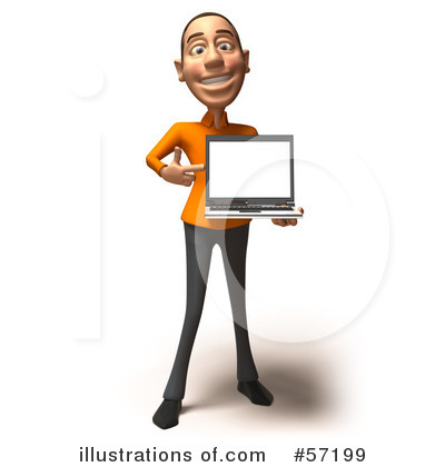 Casual White Man Character Clipart #57199 by Julos