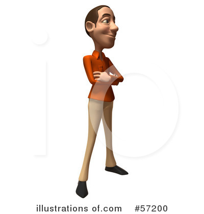 Casual White Man Character Clipart #57200 by Julos