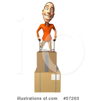 Casual White Man Character Clipart #57203 by Julos