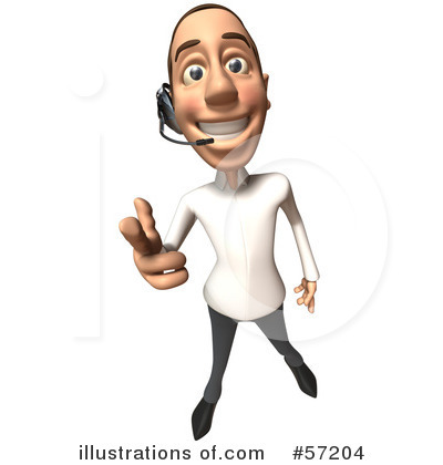 Casual White Man Character Clipart #57204 by Julos