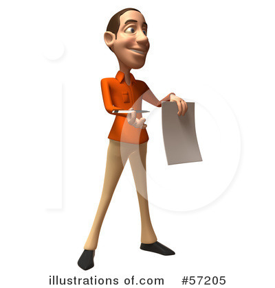 Casual White Man Character Clipart #57205 by Julos