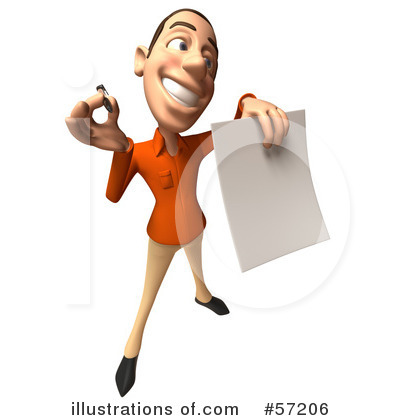 Casual White Man Character Clipart #57206 by Julos