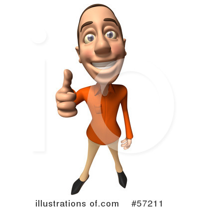 Casual White Man Character Clipart #57211 by Julos