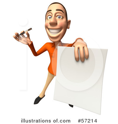 Casual White Man Character Clipart #57214 by Julos