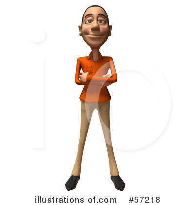 Casual White Man Character Clipart #57218 by Julos