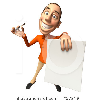 Casual White Man Character Clipart #57219 by Julos