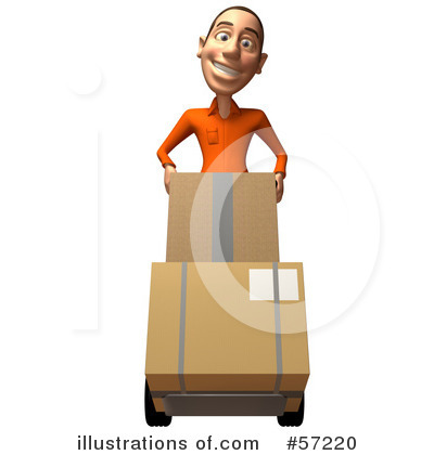 Casual White Man Character Clipart #57220 by Julos