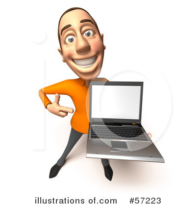 Casual White Man Character Clipart #57223 by Julos