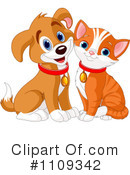 Royalty-Free (RF) Cat And Dog Clipart Illustration #1109342
