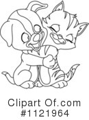 Royalty-Free (RF) Cat And Dog Clipart Illustration #1121964