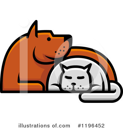Dog And Cat Clipart #1196452 by Vector Tradition SM