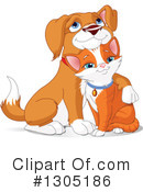 Royalty-Free (RF) Cat And Dog Clipart Illustration #1305186