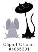 Royalty-Free (RF) Cat And Mouse Clipart Illustration #1066391