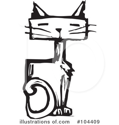 Royalty-Free (RF) Cat Clipart Illustration by xunantunich - Stock Sample #104409