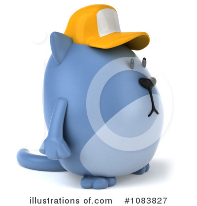 Blue Cat Clipart #1083827 by Julos