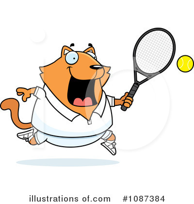 Tennis Clipart #1087384 by Cory Thoman