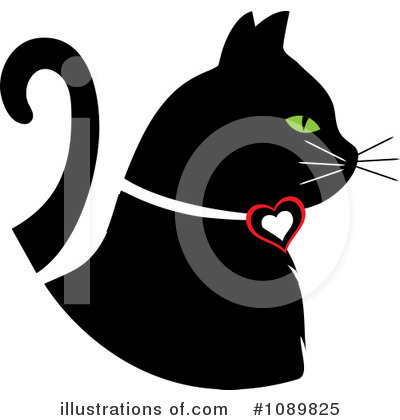 Black Cat Clipart #1089825 by Pams Clipart