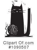 Royalty-Free (RF) Cat Clipart Illustration #1090507