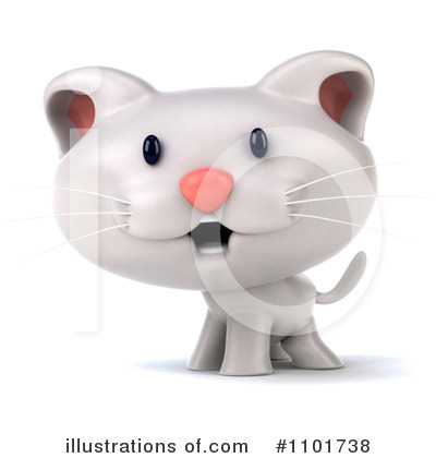 White Cat Clipart #1101738 by Julos