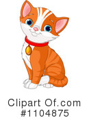 Royalty-Free (RF) Cat Clipart Illustration #1104875