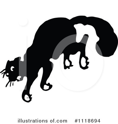 Scared Cat Clipart #1118694 by Prawny Vintage