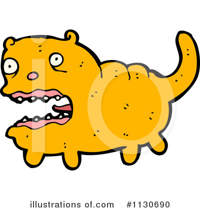 Scared Cat Clipart #1130690 by lineartestpilot